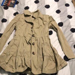 Jackets & Blazers - Khaki dress trenchcoat